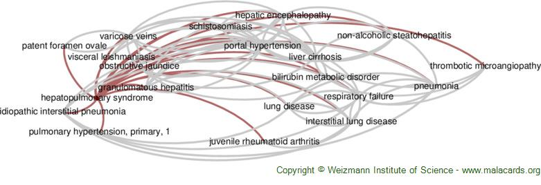 Diseases related to Hepatopulmonary Syndrome