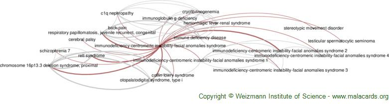 Diseases related to Immunodeficiency-Centromeric Instability-Facial Anomalies Syndrome
