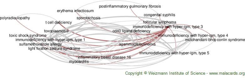 Diseases related to Immunodeficiency with Hyper-Igm, Type 3