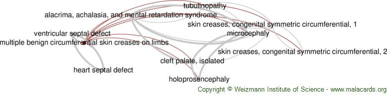Diseases related to Multiple Benign Circumferential Skin Creases on Limbs