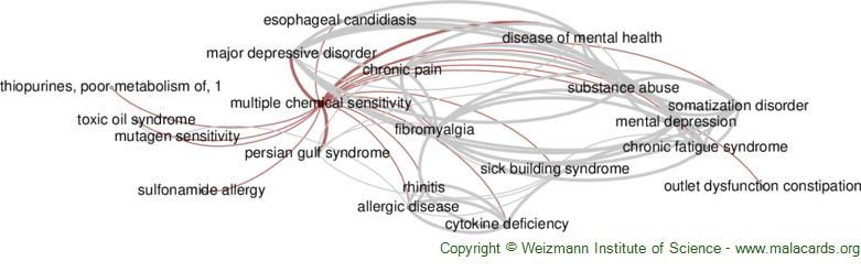 Diseases related to Multiple Chemical Sensitivity