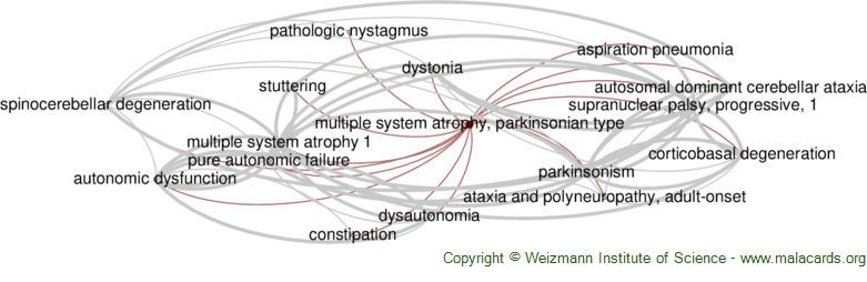 Diseases related to Multiple System Atrophy, Parkinsonian Type