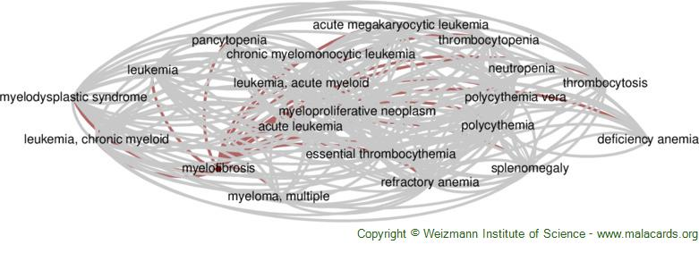 Diseases related to Myelofibrosis