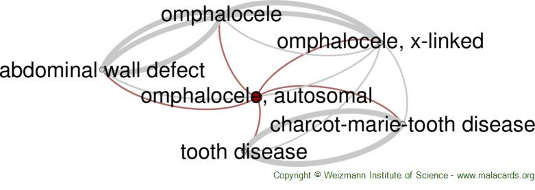 Diseases related to Omphalocele, Autosomal