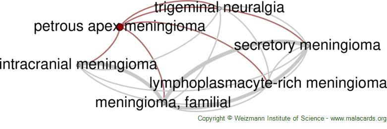 Diseases related to Petrous Apex Meningioma
