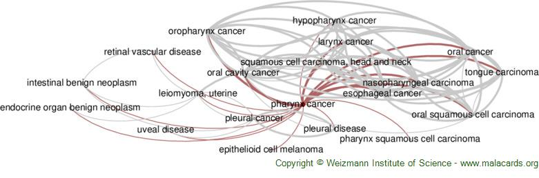 Diseases related to Pharynx Cancer