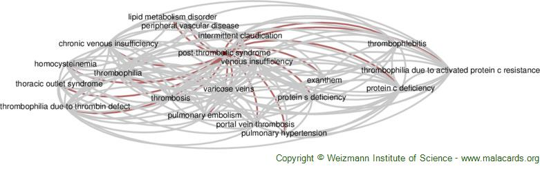 Diseases related to Post-Thrombotic Syndrome