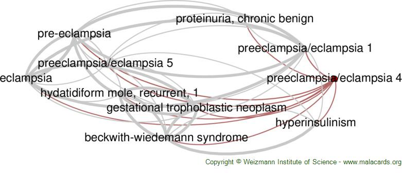 Diseases related to Preeclampsia/eclampsia 4