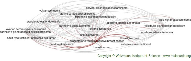 Diseases related to Progesterone-Receptor Positive Breast Cancer