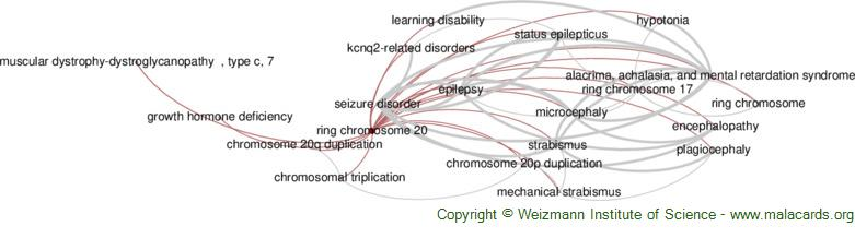 Diseases related to Ring Chromosome 20