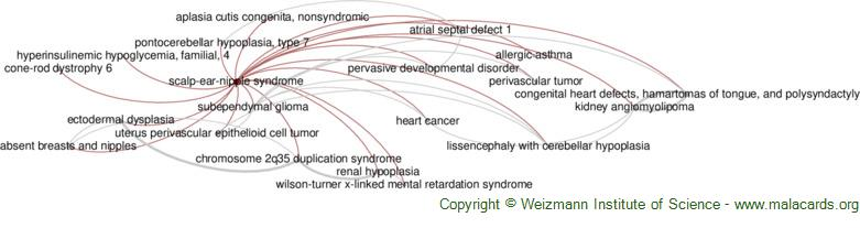 Diseases related to Scalp-Ear-Nipple Syndrome