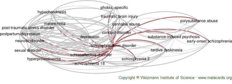 Diseases related to Schizophreniform Disorder