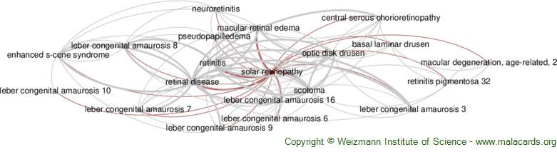 Diseases related to Solar Retinopathy