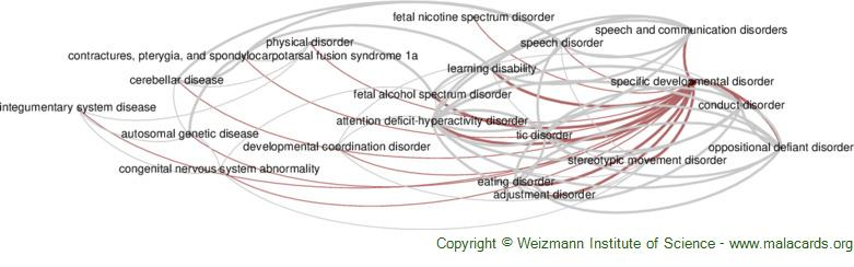 Diseases related to Specific Developmental Disorder