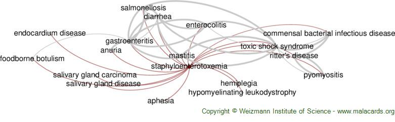 Diseases related to Staphyloenterotoxemia