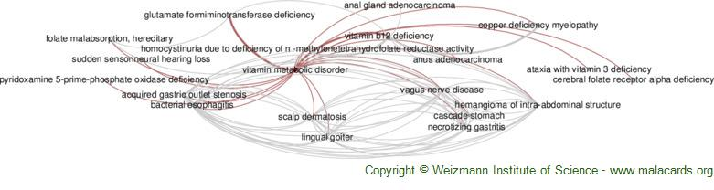 Diseases related to Vitamin Metabolic Disorder