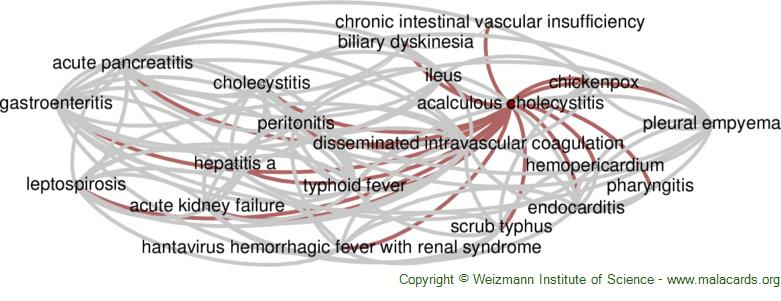 Diseases related to Acalculous Cholecystitis
