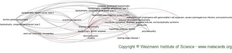 Diseases related to Acquired Lipodystrophy
