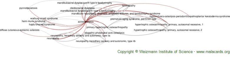 Diseases related to Acroosteolysis