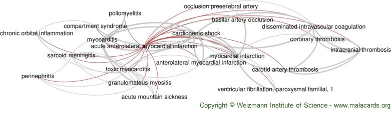 Diseases related to Acute Anterolateral Myocardial Infarction