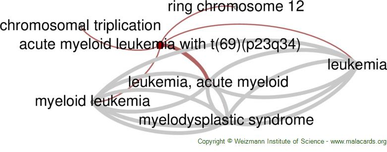 Diseases related to Acute Myeloid Leukemia with T(6;9)(p23;q34)