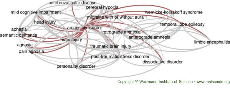 Diseases related to Amnestic Disorder