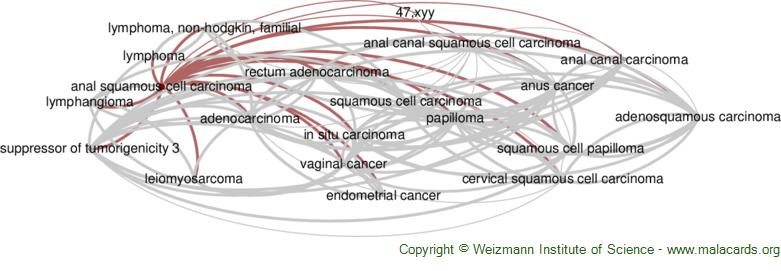 Diseases related to Anal Squamous Cell Carcinoma