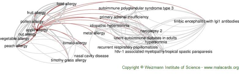 Diseases related to Apple Allergy