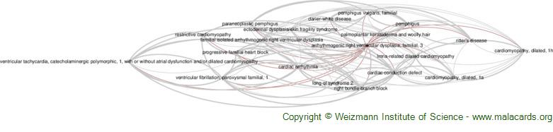Diseases related to Arrhythmogenic Right Ventricular Dysplasia, Familial, 3