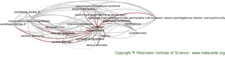 Diseases related to Candidiasis