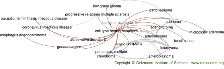 Diseases related to Cell Type Benign Neoplasm