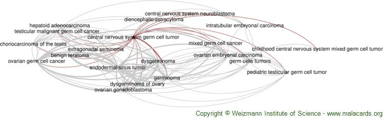 Diseases related to Central Nervous System Germ Cell Tumor