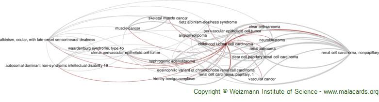 Diseases related to Childhood Kidney Cell Carcinoma