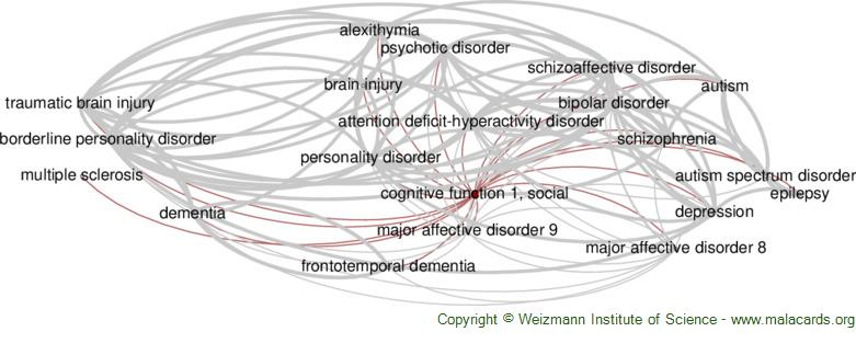 Diseases related to Cognitive Function 1, Social