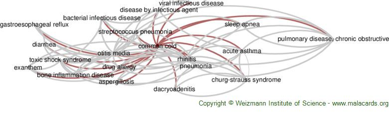 Diseases related to Common Cold