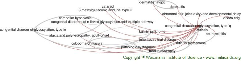 Diseases related to Congenital Disorder of Glycosylation, Type Iq