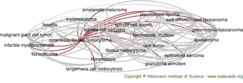 Diseases related to Cutaneous Fibrous Histiocytoma