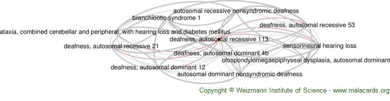 Diseases related to Deafness, Autosomal Recessive 113