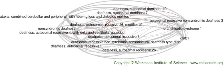 Diseases related to Deafness, Autosomal Recessive 26, Modifier of