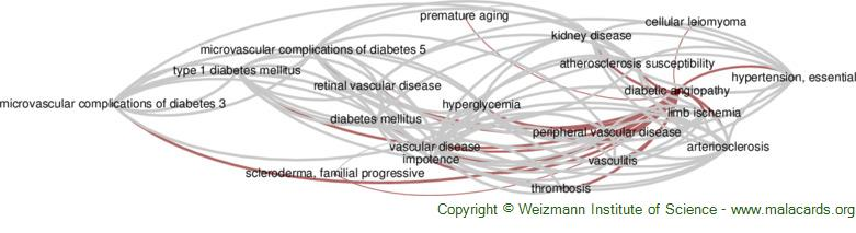 Diseases related to Diabetic Angiopathy