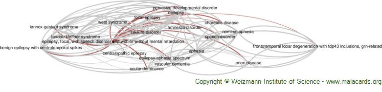 Diseases related to Epilepsy, Focal, with Speech Disorder and with or Without Mental Retardation