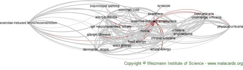 Diseases related to Exercise-Induced Anaphylaxis