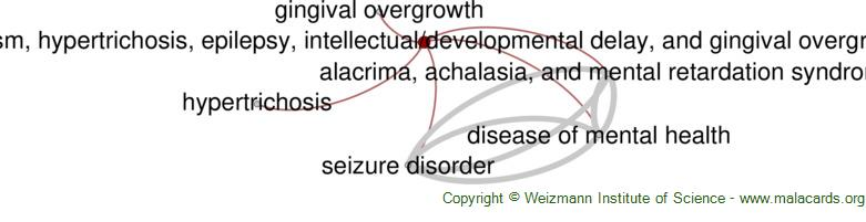 Diseases related to Facial Dysmorphism, Hypertrichosis, Epilepsy, Intellectual/developmental Delay, and Gingival Overgrowth Syndrome