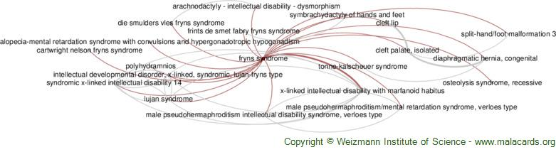 Diseases related to Fryns Syndrome