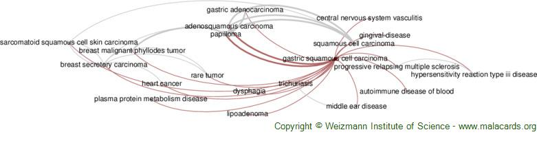 Diseases related to Gastric Squamous Cell Carcinoma
