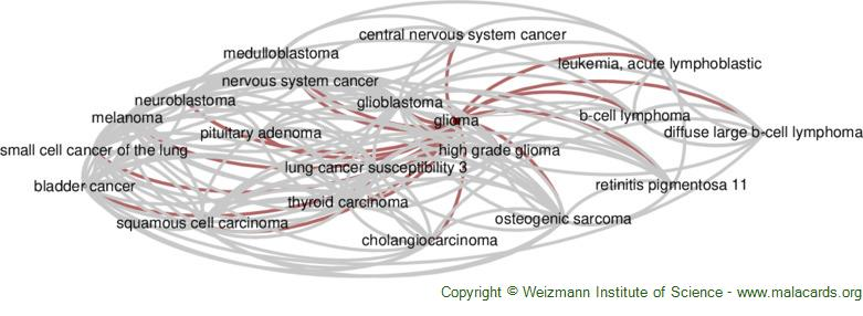 Diseases related to Glioma