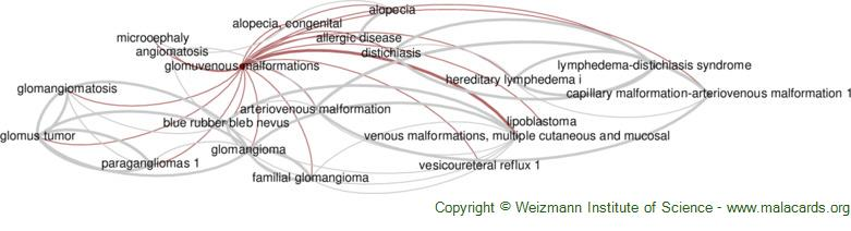 Diseases related to Glomuvenous Malformations