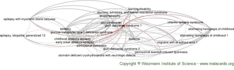 Diseases related to Glut1 Deficiency Syndrome 1