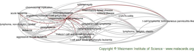 Diseases related to Hepatosplenic T-Cell Lymphoma