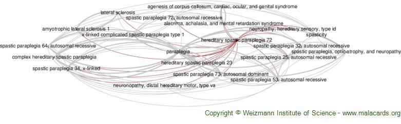Diseases related to Hereditary Spastic Paraplegia 72